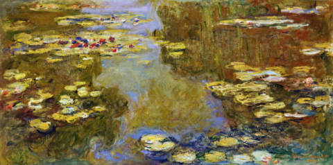 Fine Art Reproduction, individual art card: Claude Monet, Seerosenteich