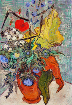 Fine Art Reproduction, individual art card: Vincent van Gogh, Vase mit Wildblumen