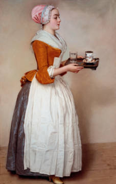 Fine Art Reproduction, individual art card: Jean-Etienne Liotard, The chocolate girl