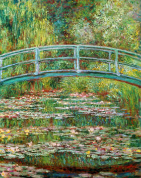 Japanische Brücke of artist Claude Monet as framed image