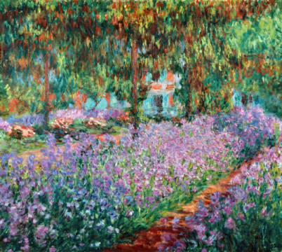 The Artist's Garden at Giverny, 1900 of artist Claude Monet as framed image