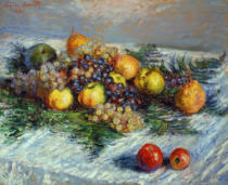 Claude Monet - Still Life with Pears and Grapes, 1880