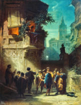 Carl Spitzweg - Spanish Serenade from the Barber of Sevilla