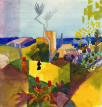 August Macke - Landschaft am Meer