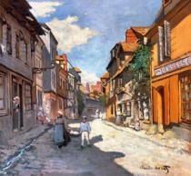 Claude Monet - Dorfstrasse in der Normandie
