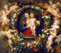 Peter Paul Rubens - Virgin with a Garland of Flowers