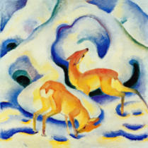 Franz Marc - Deer in the Snow II