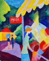 August Macke - Modeschaufenster