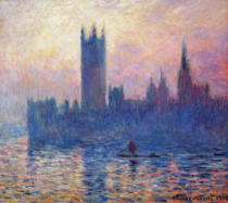 Claude Monet - Das Parlament in London bei Sonnenuntergang
