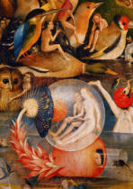 Hieronymus Bosch - The Garden of Earthly Delights,detail from the middle panel