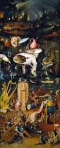 Hieronymus Bosch - The Garden of Earthly Delights, right side wing of the triptych: Hell