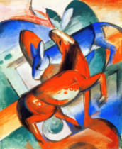 Franz Marc - Horse and donkey