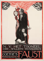 Richard Roland Holst - Plakat für Goethes 'Faust'