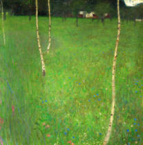 Gustav Klimt - Farm House w. Birches
