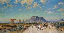 Herman David Salomon Corrodi - Die Akropolis in Athen