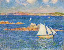 Theodore van Rysselberghe - Near the Rocs of Per-Kiridec in Roscoff