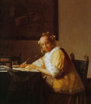 Jan Vermeer van Delft - A Lady Writing, c. 1665