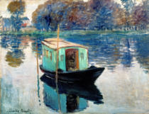 Claude Monet - Das Atelierboot