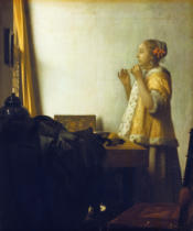 Jan Vermeer van Delft - Young lady with pearl necklace