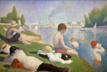 Georges Pierre Seurat - Bathers at Asnieres, 1884