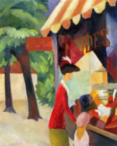 August Macke - In front of the Hat Shop