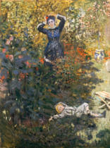 Claude Monet - Camille and Jean Monet in the Garden at Argenteuil, 1873