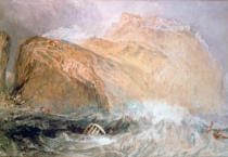 Joseph Mallord William Turner - Das Tintagel Castle, Cornwall