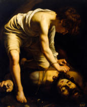 Michelangelo Merisi da Caravaggio - David besiegt Goliath