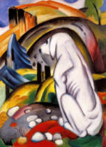 Franz Marc - The white dog (dog in the world)