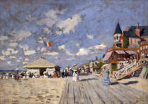 Claude Monet - Am Strand von Trouville