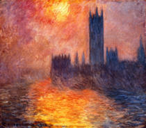 Claude Monet - Das Parlament in London bei Sonnenuntergangn 1904
