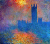 Claude Monet - London, das Parlament. Die Sonne bricht durch den Nebel. 1904