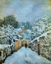 Alfred Sisley - Louveciennes im Schnee