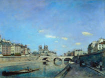 Johann Barthold Jongkind - The Seine and Notre Dame in Paris, 1864