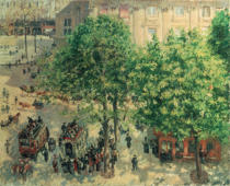 Camille Pissarro - Place du Theatre in Paris