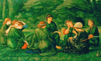 Sir Edward Coley Burne-Jones - Grüner Sommer