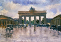 Lesser Ury - Das Brandenburger Tor in Berlin