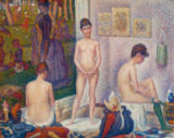 Georges Seurat - Die Modelle (Les Poseuses). Zweite Fassung