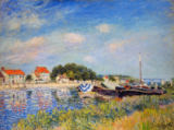 Alfred Sisley - Am Ufer des Flusses Loing in Saint-Mammes