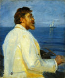 Michael Peter Ancher - Bildnis des Malers Peter Severin Kroyer