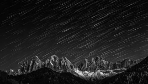 Foto-Kunstdruck: Valeriy Shcherbina, Starfall in the Dolomites