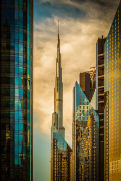 "Foto-Kunstdruck: Nicolas Tohme, The Mighty ""Burj"""