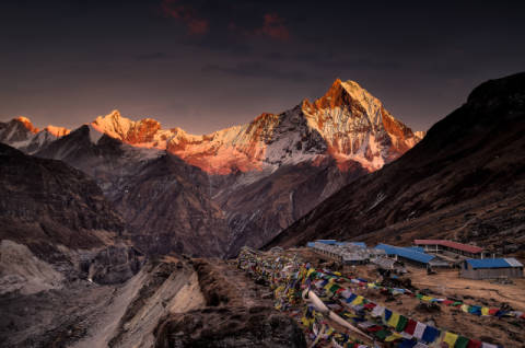 Foto-Kunstdruck: Richard Le Manz, Annapurna Base Camp