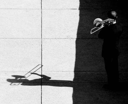 Foto-Kunstdruck: Jian Wang, Trombone player