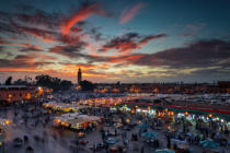 Dan Mirica - Sunset over Jemaa Le Fnaa Square in Marrakech, Morocco