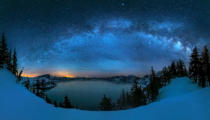 Hua Zhu - Starry night over the Crater Lake