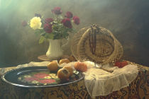 UstinaGreen - Still Life with tray and Roses