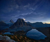 Yan Zhang - Starry Night at Mount Assiniboine