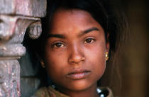 William Lesourd - Young girl in Kathmandu, Nepal, before earthquake