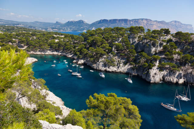 Photo Print Calanques of Port Pin in Cassis by Borges Samuel on Glossy normal